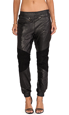 One Teaspoon Super Leather Trackies in