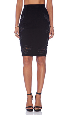 One Teaspoon Free Love pencil Skirt in Black