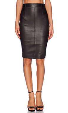 One Teaspoon Free Love Leather Skirt in Black