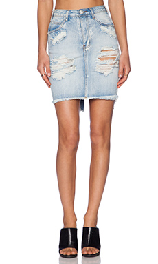 One Teaspoon 20/20 Jean Skirt in Hendrix