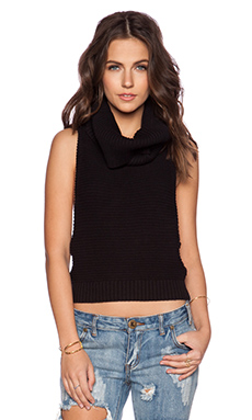 One Teaspoon Parisienne Nights Top in Black