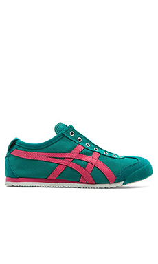 Onitsuka Tiger Mexico 66 Slip On in Tropical Green & Rose