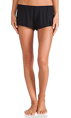 Only Hearts Feather Weight Sleep Shorts in Black