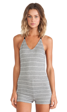 Only Hearts T-Back Teddy in Grey