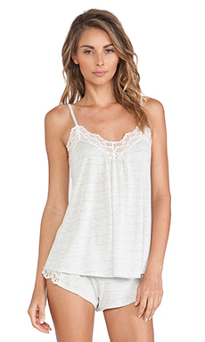 Only Hearts Venice Low Back Cami in Pinstripe Grey
