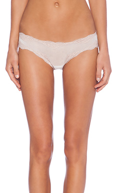 Only Hearts Tulle With Lace Brazilian Bikini in Creme & Shell