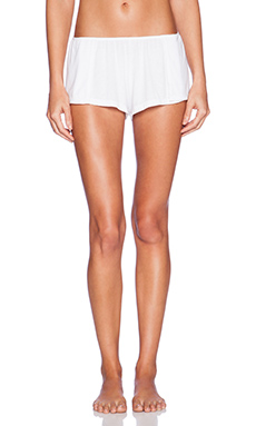 Only Hearts Feather Weight Rib Sleep Shorts in White