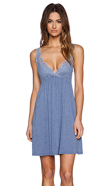 Only Hearts Venice Tank With Lace Cups in Denim