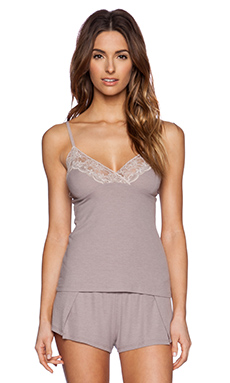 Only Hearts Feather Weight Rib Lace Cami in Grey Pearl