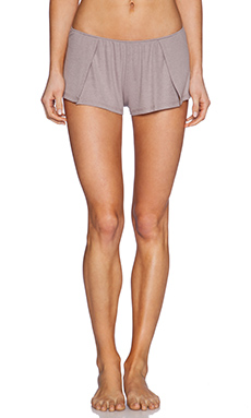 Only Hearts Feather Weight Rib Sleep Shorts in Grey Pearl