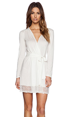 Only Hearts Venice Robe With Lace Hem in Antique White