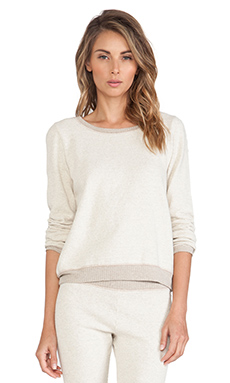 Only Hearts Sunday Morning Sweatshirt Melange in OatMeal