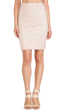 Only Hearts Silver Plated Pencil Skirt in Pink