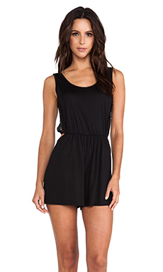 Only Hearts Cut Out Romper in Black