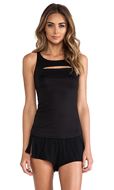 Only Hearts Delicious Cut Out Tank in Black