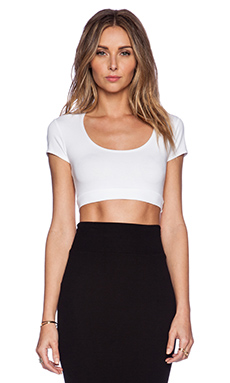 Only Hearts So Fine Crop Top in White