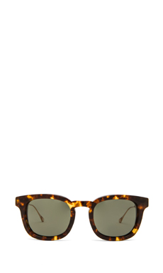 Oliver Peoples WEST Cabrillo Polarized Sunglasses in Grey Spotted Tortoise
