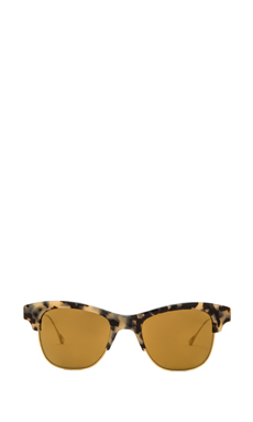 Oliver Peoples WEST Hobson Polarized Sunglasses in Grey Spotted Tortoise/Antique Gold
