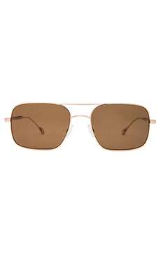 Oliver Peoples WEST De Oro in Gold & Canyon Polar