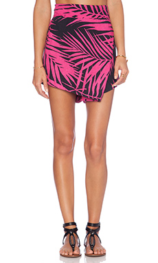 OSKLEN California Leaves Short in Pink & Black