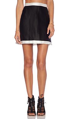 OSKLEN Mini Skirt in Black & Off White