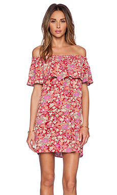 Otis & Maclain Senorita Dress in Red Floral