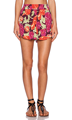 Otis & Maclain Tennis Short in Fuchsia Floral