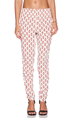 Otis & Maclain Track Pant in White Floral