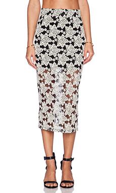 Otis & Maclain Mid Calf Skirt in Lace