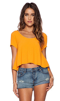 Otis & Maclain Mae Tie Back Top in Orange Crepe