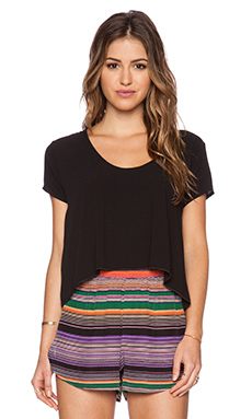 Otis & Maclain Mae Tie Back Top in Black