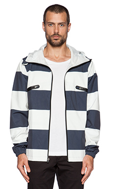 ourCASTE Saul Jacket in Salt Stripe