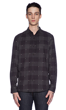 ourCASTE Grant Button Down in Navy