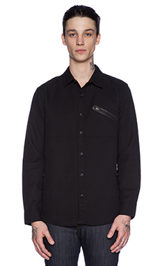 ourCASTE Moose Button Down in Black