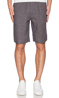 Our Legacy Relax Linen Short in Charcoal