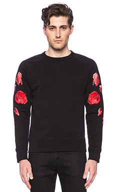 Our Legacy 50's Embroidered Roses Sweater in Black