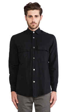 Our Legacy 2 Pocket Shirt in Washed Black