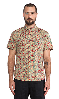 OURS Short Nat Shirt in Tan Floral
