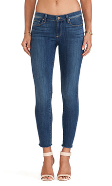 Paige Denim Verdugo Ankle Skinny with Raw Hem in Orson