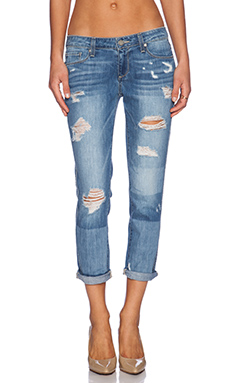 Paige Denim Jimmy Jimmy Crop in Indigo Ezra Destructed