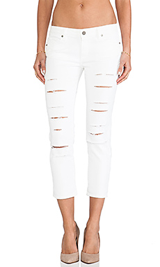 Paige Denim Jimmy Jimmy Crop in Lily Destructed