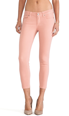 Paige Denim Verdugo Crop in Ballet Pink
