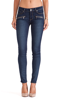 Paige Denim Indio Zip Skinny in Vista