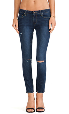 Paige Denim Verdugo Ultra Skinny in Lange Destructed