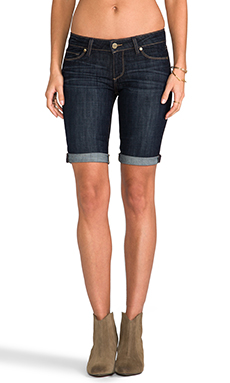 Paige Denim Jax Knee Short in Dean