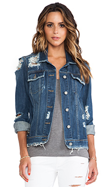 Paige Denim Heidi Oversized Jacket in Lombard Destructed