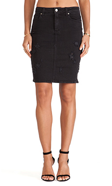 Paige Denim Deirdre Skirt in Ramone Destrusted