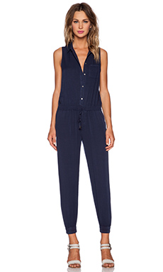Paige Denim Avril Jumpsuit in Dark Ink Blue