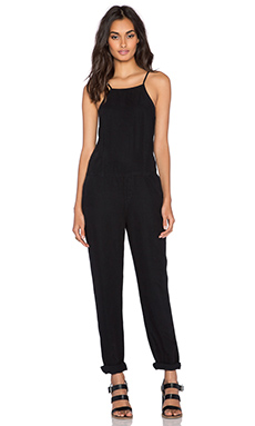 Paige Denim Anjelica Jumpsuit in Black Overdye
