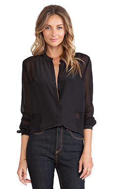 Paige Denim Evelyn Shirt in Black